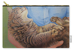 Happy Cat Carry-all Pouch by Pamela Clements