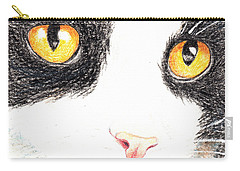 Happy Cat With The Golden Eyes Carry-all Pouch