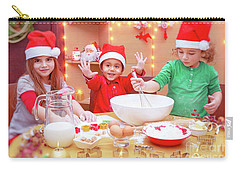 Happy Children Making Cookies Carry-all Pouch