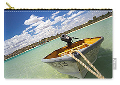 Carry-all Pouch featuring the photograph Happy Dinghy by T Brian Jones