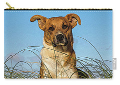 Happy Dog At The Beach Carry-all Pouch