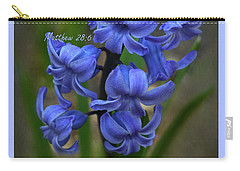 Carry-all Pouch featuring the photograph Happy Easter Hyacinth by Ann Bridges