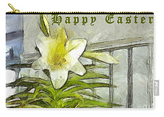 Carry-all Pouch featuring the photograph Happy Easter Lily by Claire Bull
