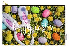 Carry-all Pouch featuring the photograph Happy Easter by Teri Virbickis