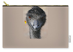Carry-all Pouch featuring the photograph Happy Emu by Ivana Westin