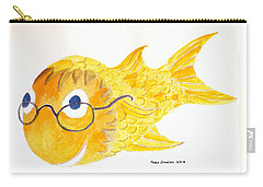 Happy Fish With Glasses Carry-all Pouch