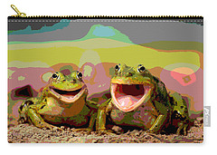 Happy Frog Carry-all Pouch by Charles Shoup