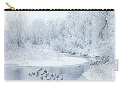 Carry-all Pouch featuring the photograph Happy Geese by Darren White