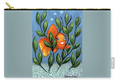 Happy Goldfish Carry-all Pouch by Sandra Estes