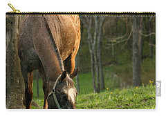 Carry-all Pouch featuring the photograph Happy Grazing by Angela Rath