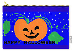 Happy Halloween 1 Carry-all Pouch by Linda Velasquez