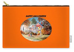 Carry-all Pouch featuring the painting Happy Halloween by Bill Holkham