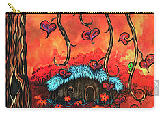 Cabin In The Woods Carry-all Pouch by Dani Abbott