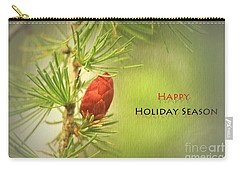 Happy Holiday Season Card Carry-all Pouch by Aimelle