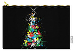 Happy Holidays - Abstract Tree - Horizontal Carry-all Pouch