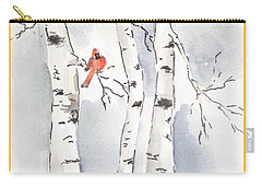 Carry-all Pouch featuring the painting Happy Holidays by Maria Langgle