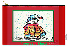 Happy Holidays Snowman Carry-all Pouch