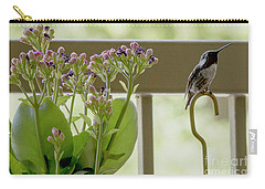 Carry-all Pouch featuring the photograph Happy Hummer by Anne Rodkin