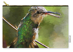 Happy Hummingbird Carry-all Pouch