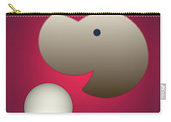 Carry-all Pouch featuring the digital art Happy by John Krakora