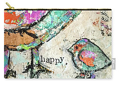 Happy Carry-all Pouch by Kirsten Reed