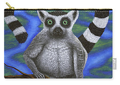Happy Lemur Carry-all Pouch