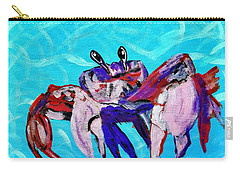 Happy Little Crab  Carry-all Pouch by Scott D Van Osdol