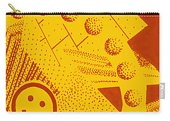 Carry-all Pouch featuring the painting Happy by Maria Langgle