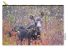 Happy Moose Carry-all Pouch by Elizabeth Dow