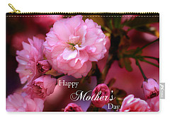 Carry-all Pouch featuring the photograph Happy Mothers Day Spring Pink Cherry Blossoms by Shelley Neff