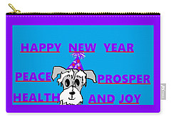 Happy New Year Carry-all Pouch by Linda Velasquez