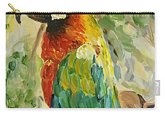 Carry-all Pouch featuring the painting Happy Parrot by Maria Langgle
