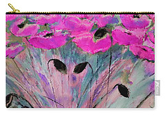 Happy Pink Poppies By Lisa Kaiser Carry-all Pouch