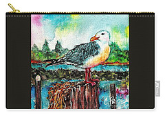 Happy Seagull Perch Carry-all Pouch