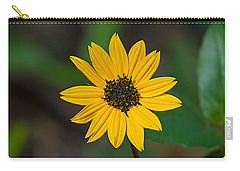 Happy Sunflower Carry-all Pouch by Kenneth Albin