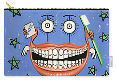 Carry-all Pouch featuring the painting Happy Teeth by Anthony Falbo