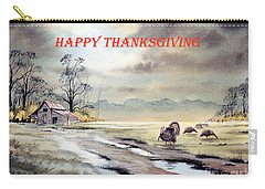 Carry-all Pouch featuring the painting Happy Thanksgiving  by Bill Holkham