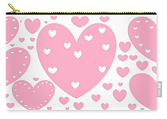 'just Hearts' Carry-all Pouch by Linda Velasquez