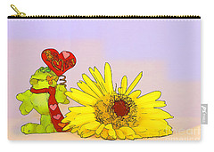 Happy Valentine's Day Carry-all Pouch by Teresa Zieba