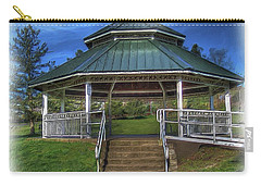 Carry-all Pouch featuring the photograph Happy Valley Gazebo Art  by Thom Zehrfeld
