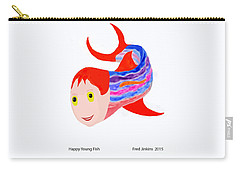 Happy Young Fish Carry-all Pouch