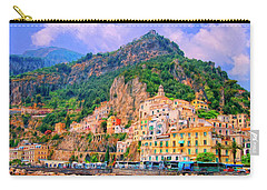 Harbor At Amalfi Carry-all Pouch by Dominic Piperata