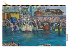 Harbor Boats Coastal Painting Of Southport North Carolina Carry-all Pouch