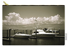 Carry-all Pouch featuring the photograph Harbor Boats by Marilyn Hunt