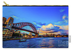 Carry-all Pouch featuring the photograph Harbor Bridge by Perry Webster