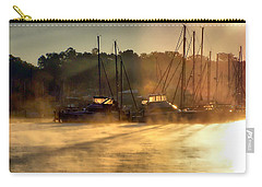 Carry-all Pouch featuring the photograph Harbor Mist by Brian Wallace