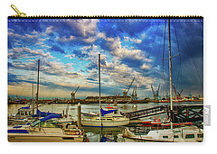 Harbor Scene Carry-all Pouch by Joseph Hollingsworth