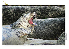 Harbor Seal Carry-all Pouch by Anthony Jones