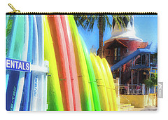 Carry-all Pouch featuring the photograph Harbor Walk At Destin Florida by Mel Steinhauer