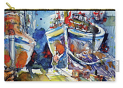 Harbor With Cats Carry-all Pouch by Kovacs Anna Brigitta